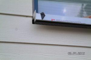 Profilierte Fensterbank aus Aluminium mit Gleit-Endstücken