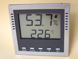 Hygrometer zur Erfassung der Luftfeuchtigkeit mit Alarmfunktion