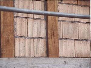 Ausmauerung mit Leichthochloch-Ziegel