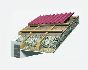 Vollsparrendämmung mit Zellulose und Holzfaserdämmplatte